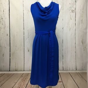 Magaschoni Silk Blend Cowl Neck Dress Size 8